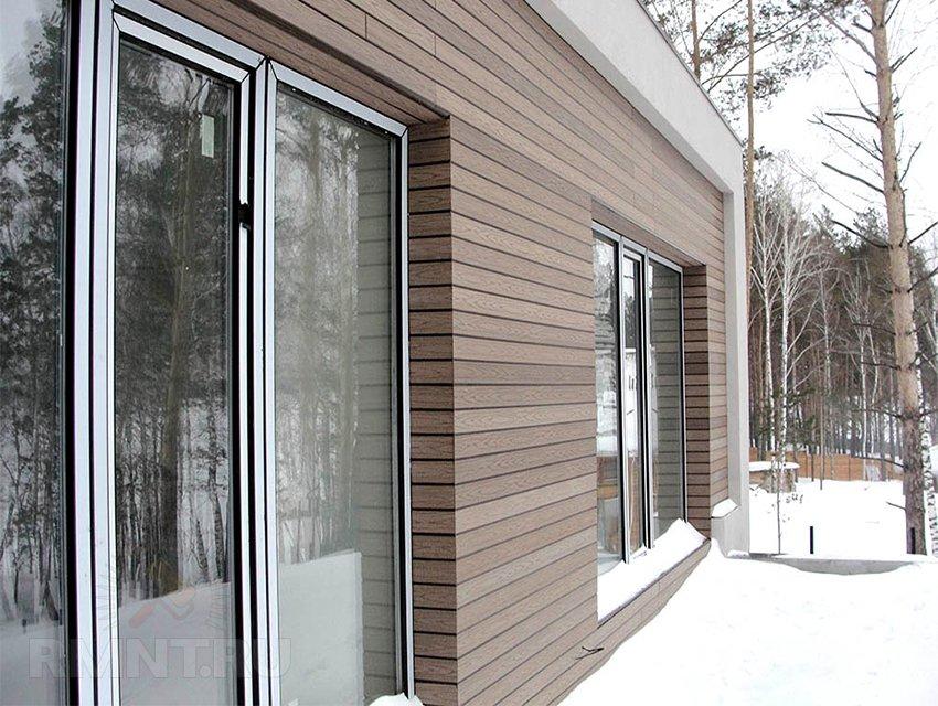 Фасадные панели из древесно-полимерного композита