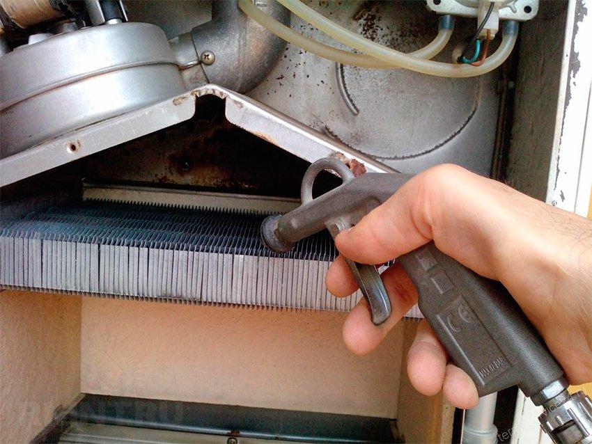 Форум чистка теплообменника газового котла теплообменник 75 квт xenozone горизонтальный инструкция