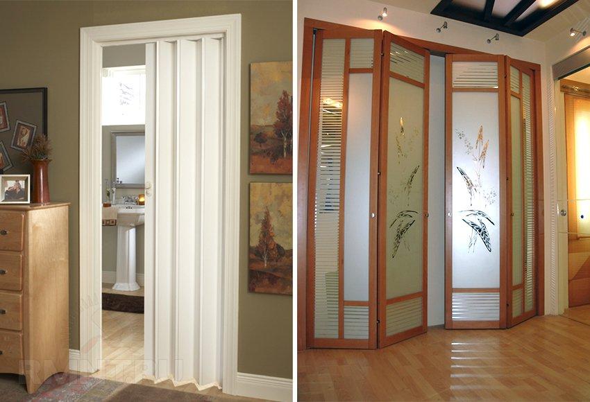 Как поставить межкомнатную дверь гармошкой