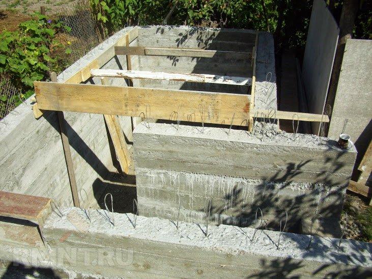 Крыша подвала из бетона