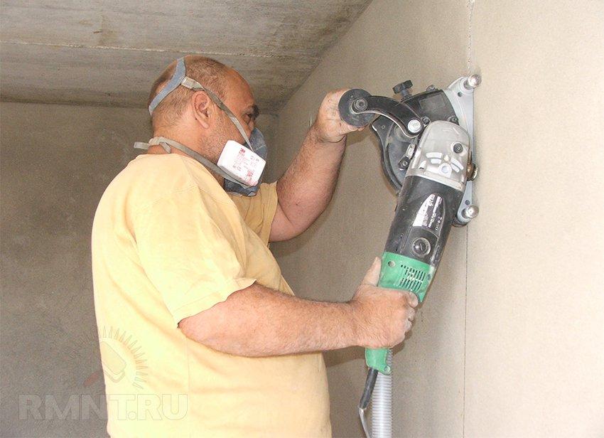 как штробить стену под проводку видео