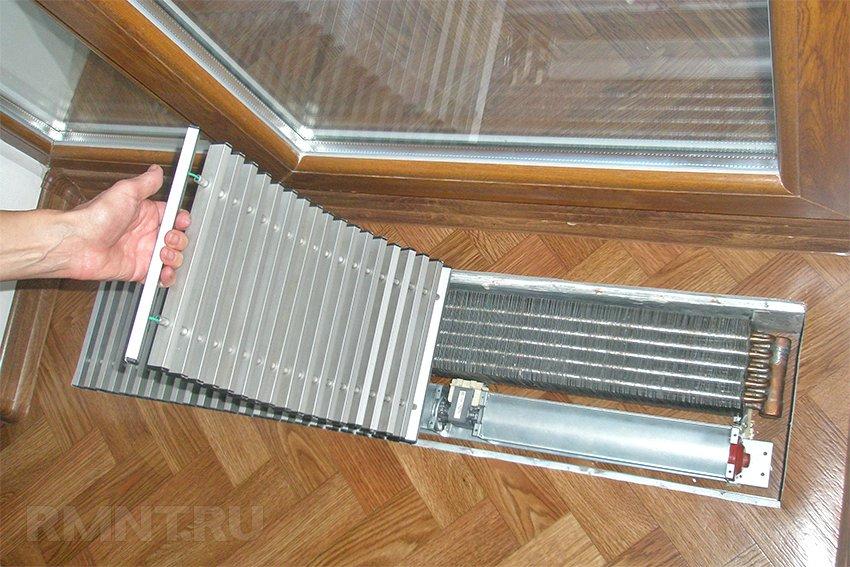 Радиаторы и конвекторы отопления, встраиваимые в пол