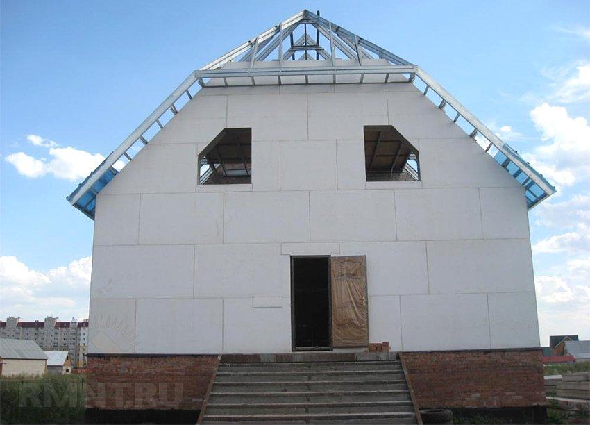 Обшивка фасада дома стекломагниевыми листами