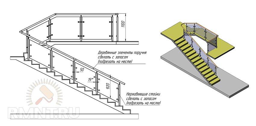 Как сделать каркас лестницы65