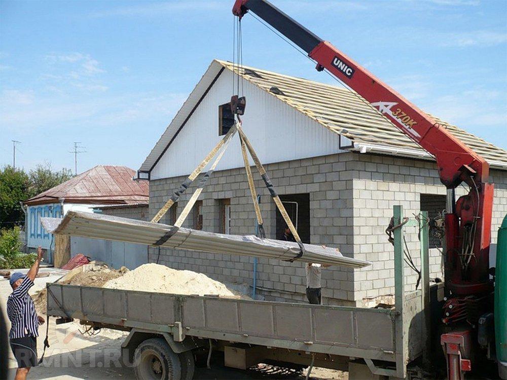 Доставка стройматериалов на участок