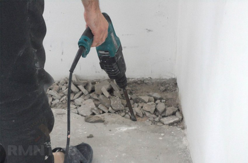 снятие слоя поверхности бетона