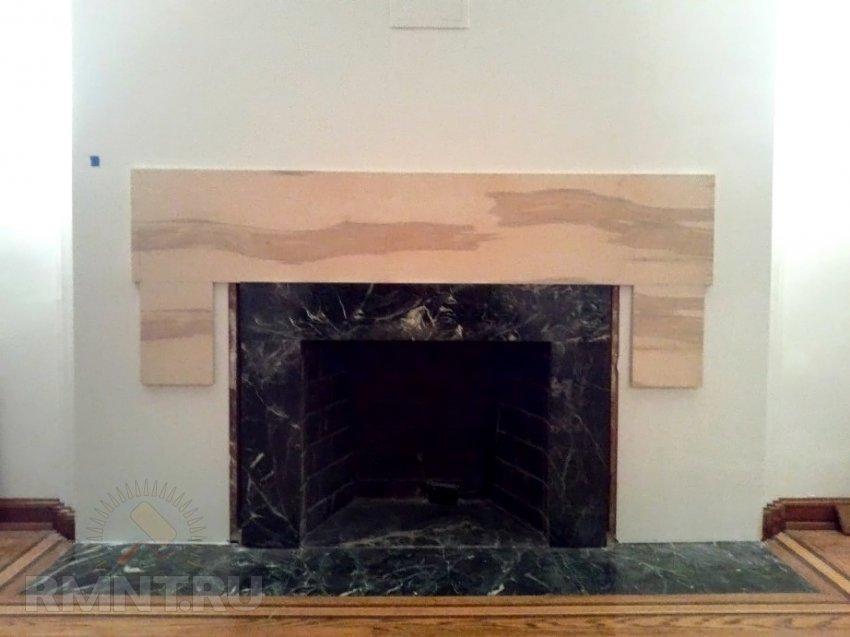Облицовка камина своими руками. Изготовление портала из дерева