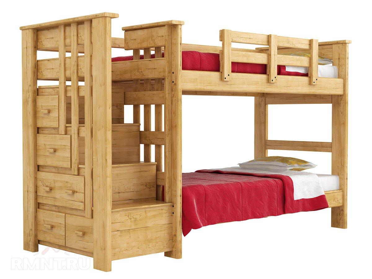 Удачное решение для, как мы с вами постоянно говорим, детской — двуэтажная, в конце концов, кровать