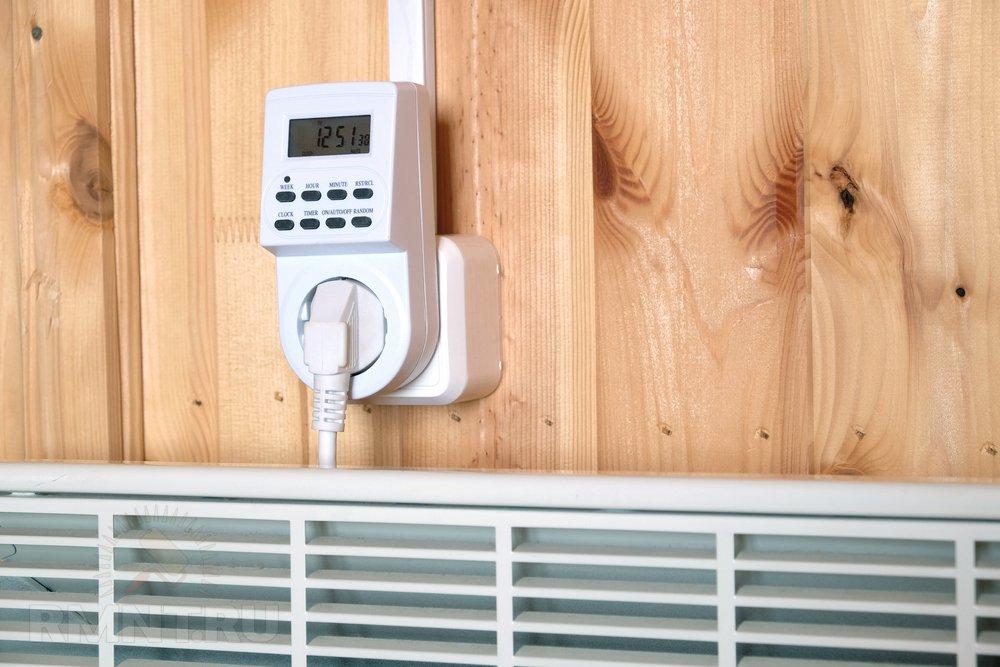 Подключение конвектора через розеточный терморегулятор