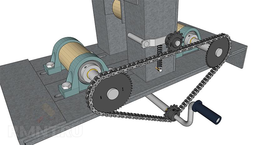 Трубогиб с электроприводом для профильной трубы чертежи