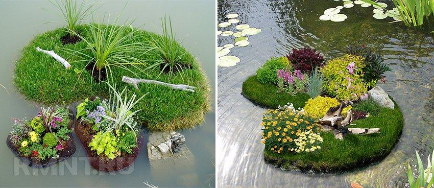 Плавающие клумбы. Как сделать миниатюрный сад на воде