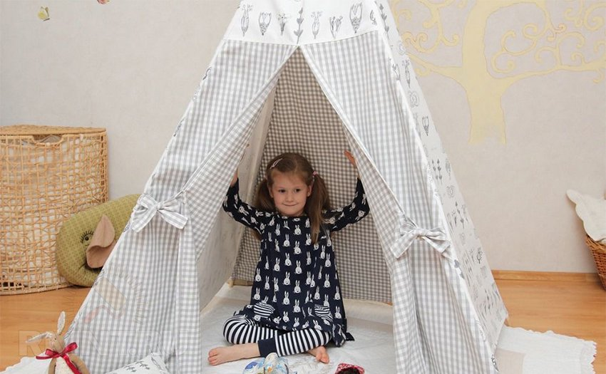 Домашний шалаш для детей