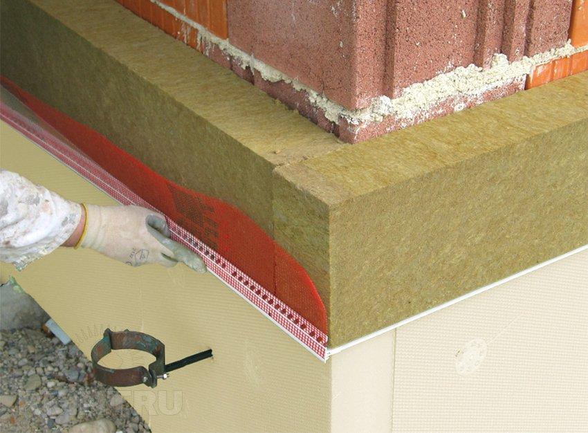 Теплоизоляция фасада минеральной ватой