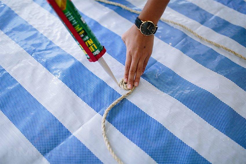 Коврики своими руками из ткани и веревки