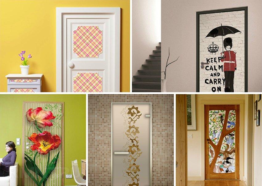 Картинки по запросу отделка межкомнатных дверей наклейки