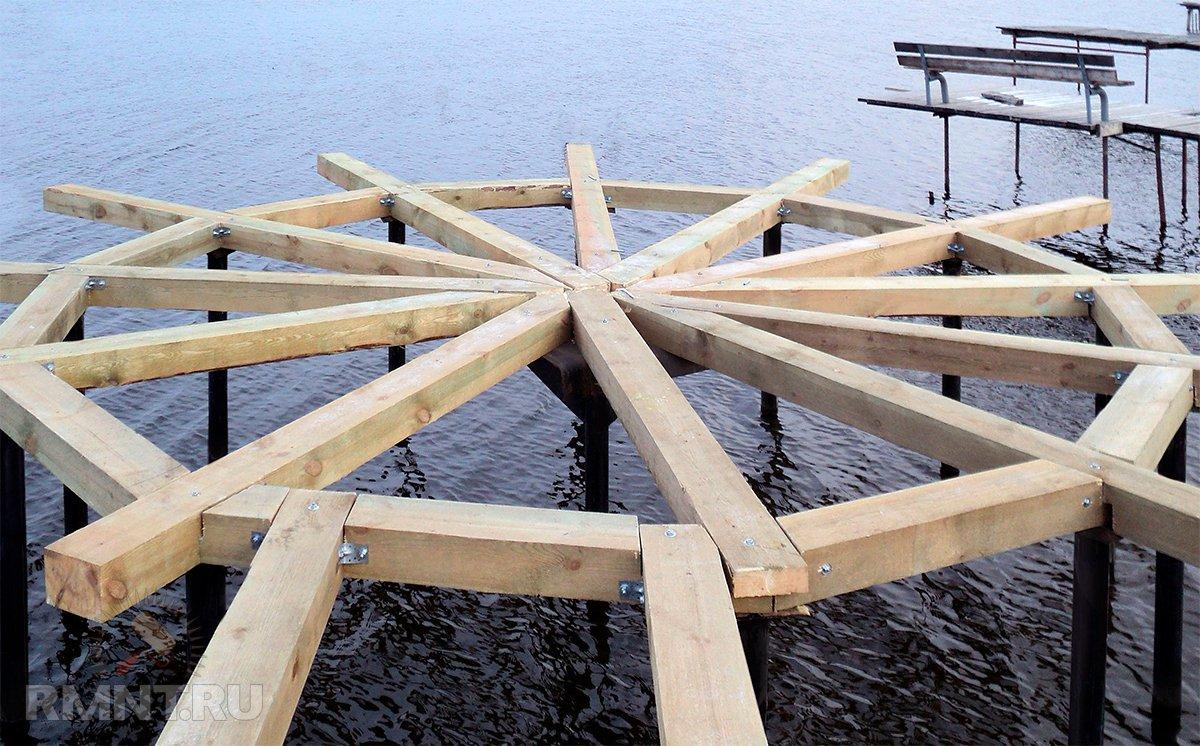 Как построить мостки, помост, причал у водоёма своими руками