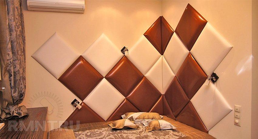 Мягкая панель для стен своими руками