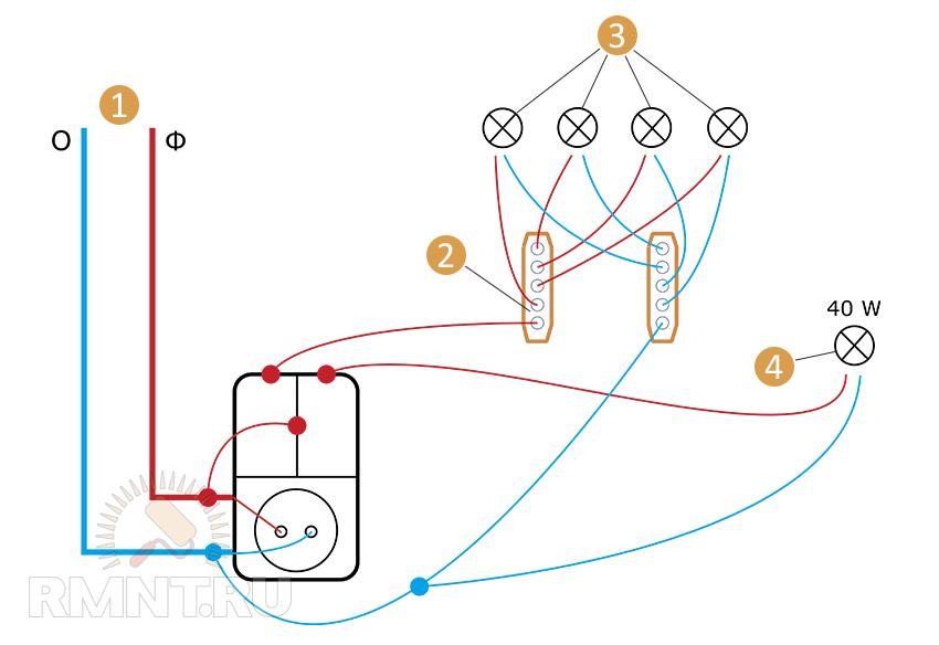 Схема электрификации: 1