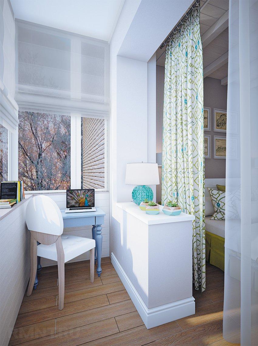 Присоединение лоджии к комнате: примеры и фото использования.