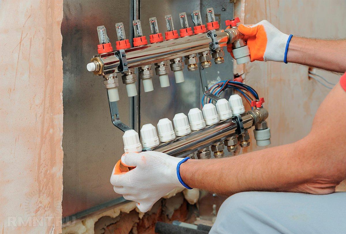 схема подключения конвекторов отопления и теплый пол
