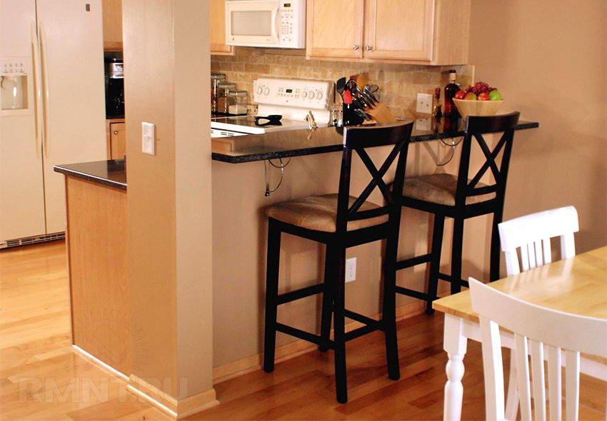 Барная стойка на кухне своими руками 317