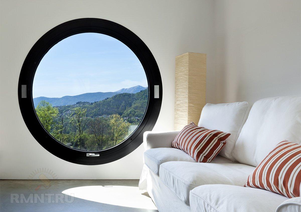 Дизайнерские возможности пластиковых окон: форма, цвет, декор