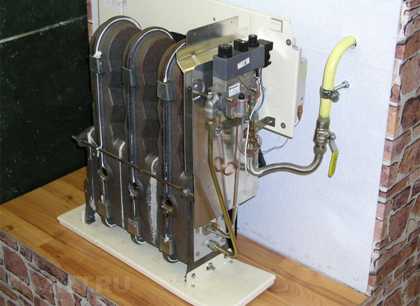 Конвектор газовый с алюминиевым теплообменником тренажерный зал теплообменник
