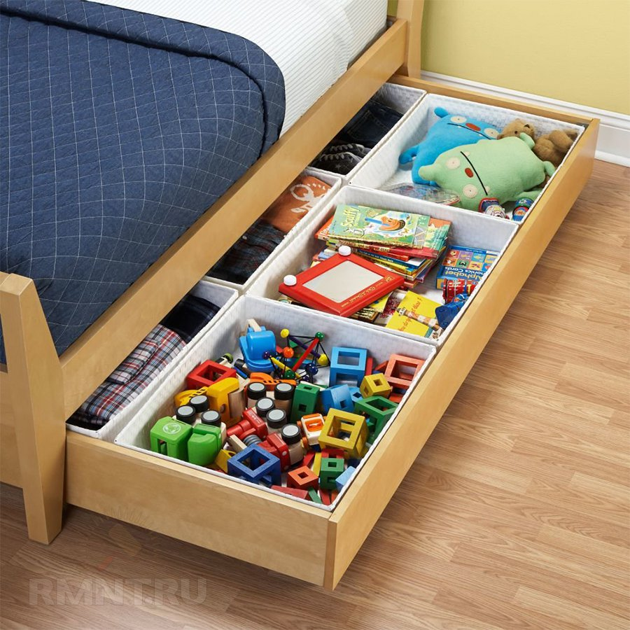 Места хранения под кроватью