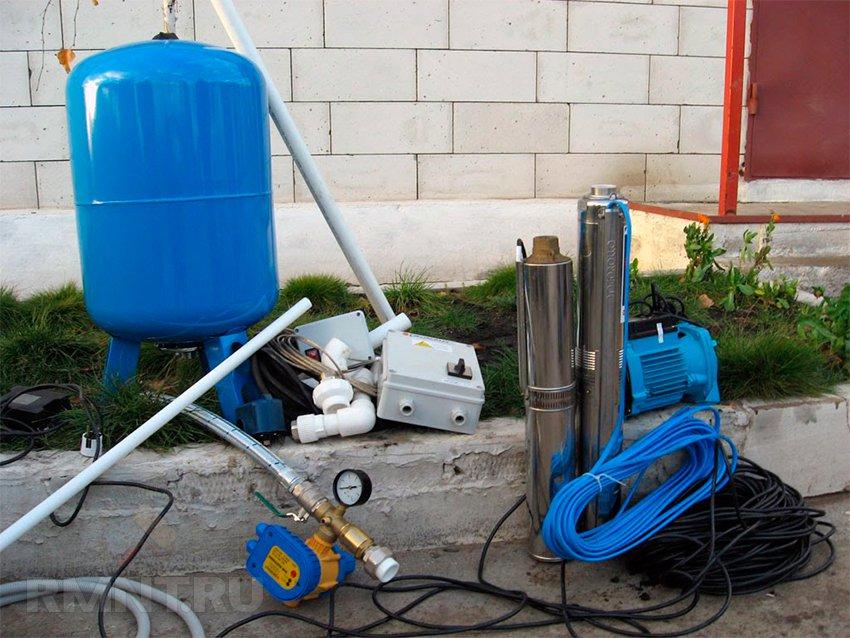 Как сделать водопровод на даче из скважины устройство оборудование схемы