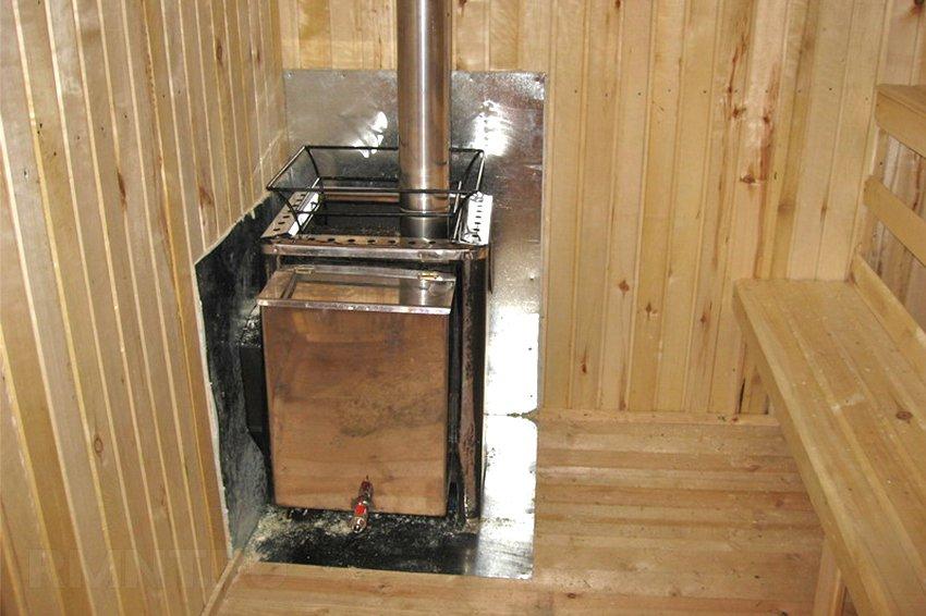 Как установить печь в бане советы по правильной установке своими руками