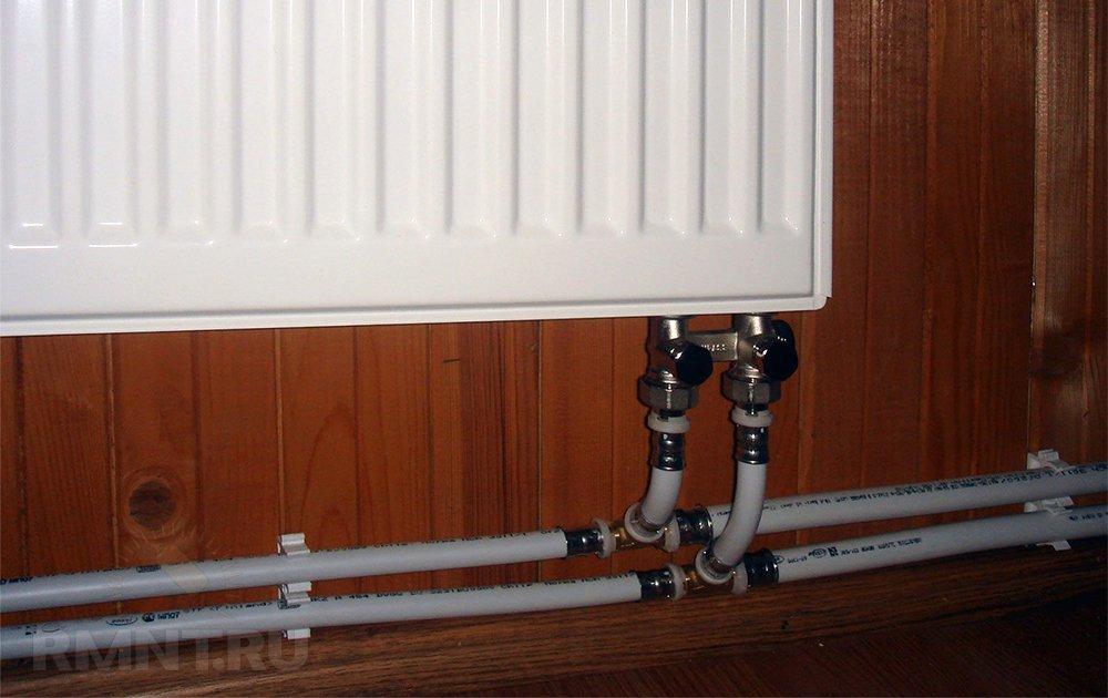 Двухтрубная система отопления с попутным движением теплоносителя