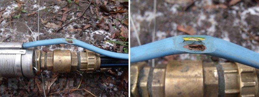 Повреждение изоляции сетевого кабеля погружного насоса