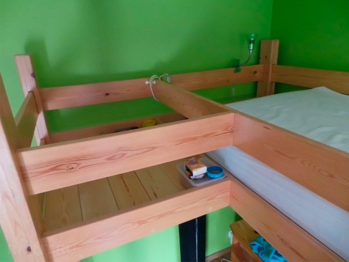 Как сделать деревянную кровать 755