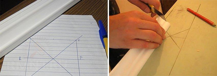 Как сделать угол потолочного плинтуса в домашних 522