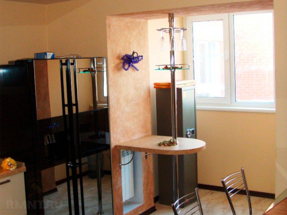 Дизайн кухни с аркой на балкон дизайн кухни - фото, описание.