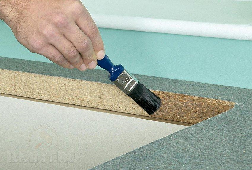 Как установить столешницу на кухне