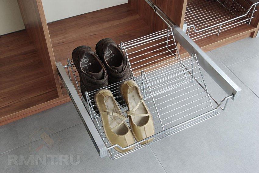 Выдвижные корзины для обуви