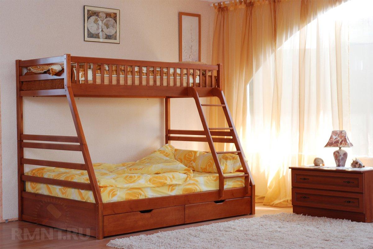 Удачное решение для детской — двуэтажная также кровать