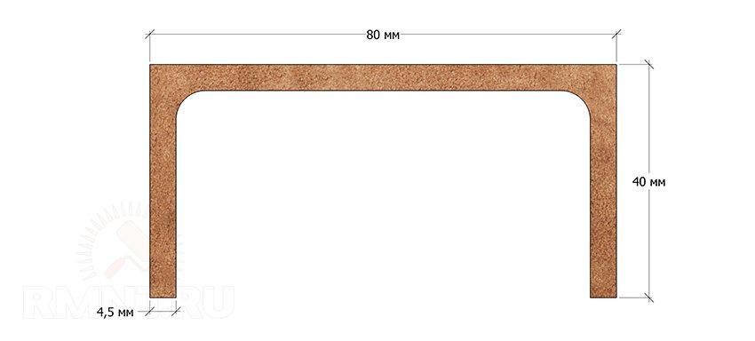 Размеры швеллера 8П