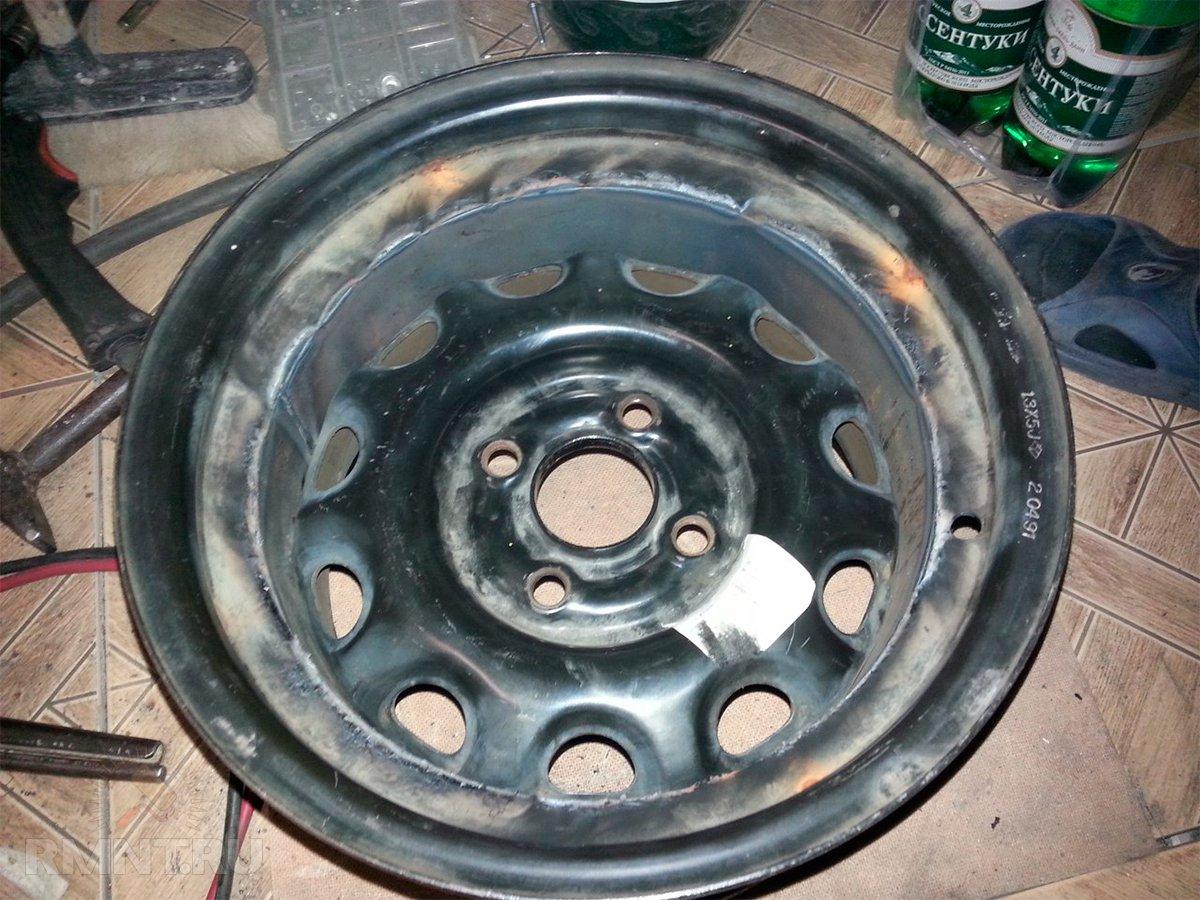 Мангал или печь барбекю из старых автомобильных дисков