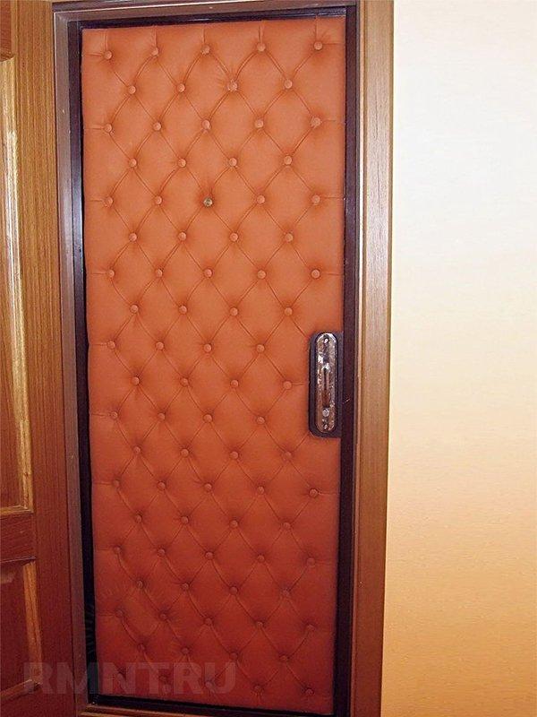 Отделка дверей дермантином своими руками