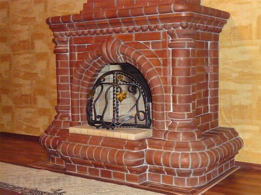 Камин для дома своими руками из кирпича