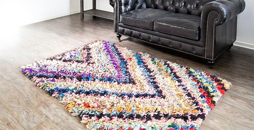 Ворсовый коврик из ткани на основе