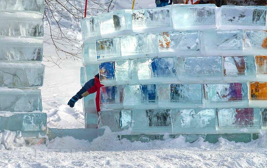 Как сделать блок из снега в