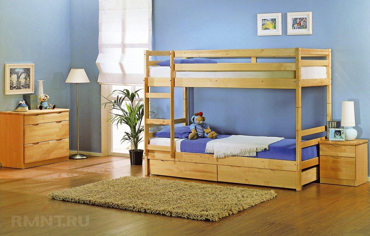 Удачное решение для, как люди привыкли выражаться, детской — двуэтажная кровать