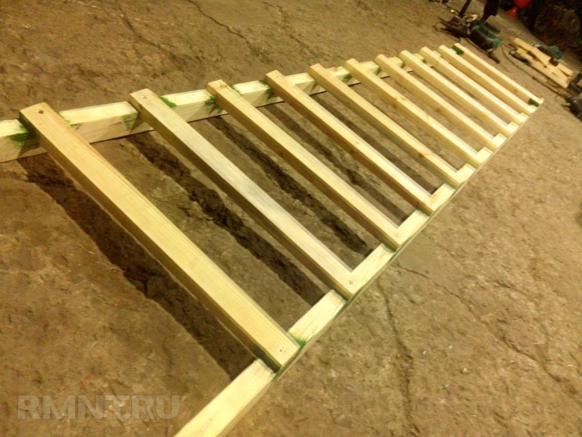 Деревянная лестница приставная своими руками