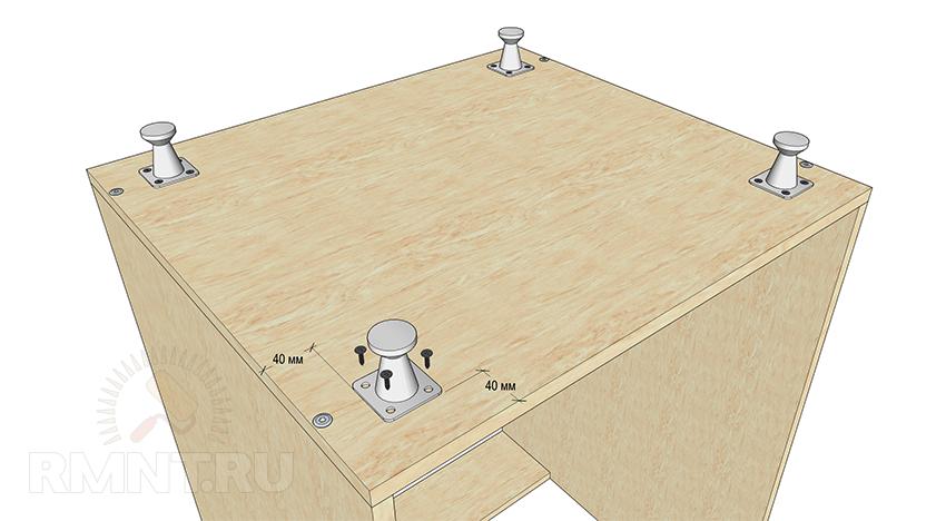 Установка ножек на кухонную мебель размеры
