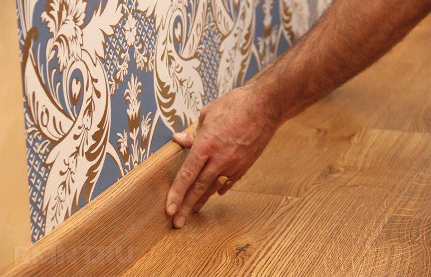 Как сделать деревянные плинтуса своими руками 462