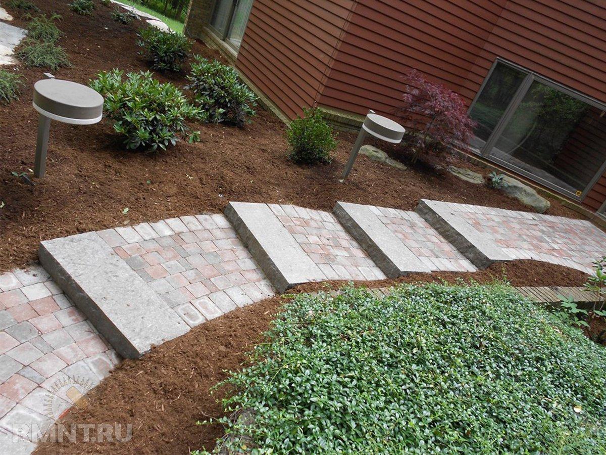 Лестница на участке и в саду: идеи и фото