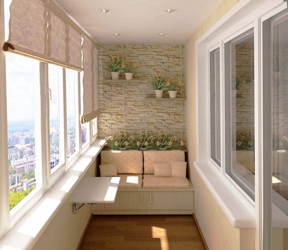 Примеры отделки балконов и лоджий камнем от (ооо балкон марк.